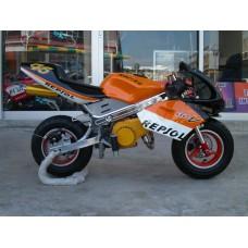 New Pocketbike HP Spec Ready to Start Repsol Orange Rims