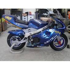 New Pocketbike Ready to Ride Go Blue Rims