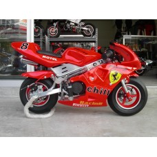 New Pocketbike Ready to Start Ferrari Red Rims