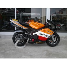 New Pocketbike Ready to Ride Repsol Black Rims Luxury Spec