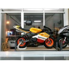New Pocketbike Ready to Ride Repsol Fluorescent Orange Rims Luxury Spec