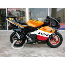 New Pocketbike Ready to Ride Repsol Black Rims Luxury Spec Passenger