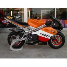 New Pocketbike Ready to Start Repsol Orange Rims