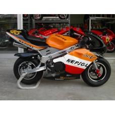 New Pocketbike Ready to Ride Repsol Black Rims